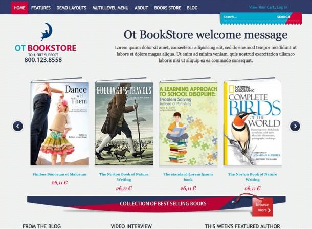 otbookstore template livraria online
